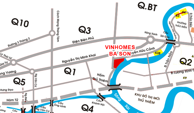 vi tri vinhomes golden river